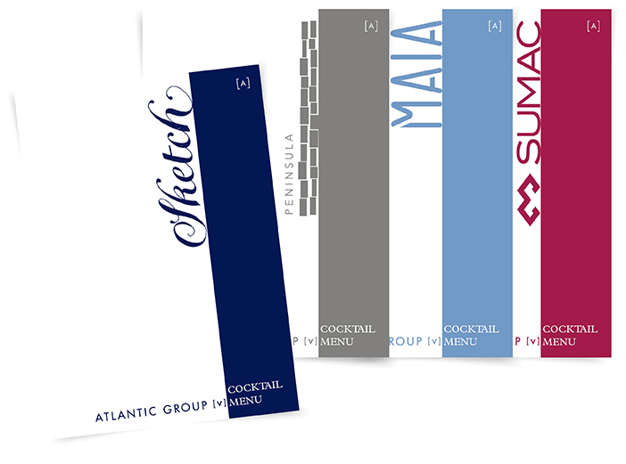 Atlantic Group venue menus