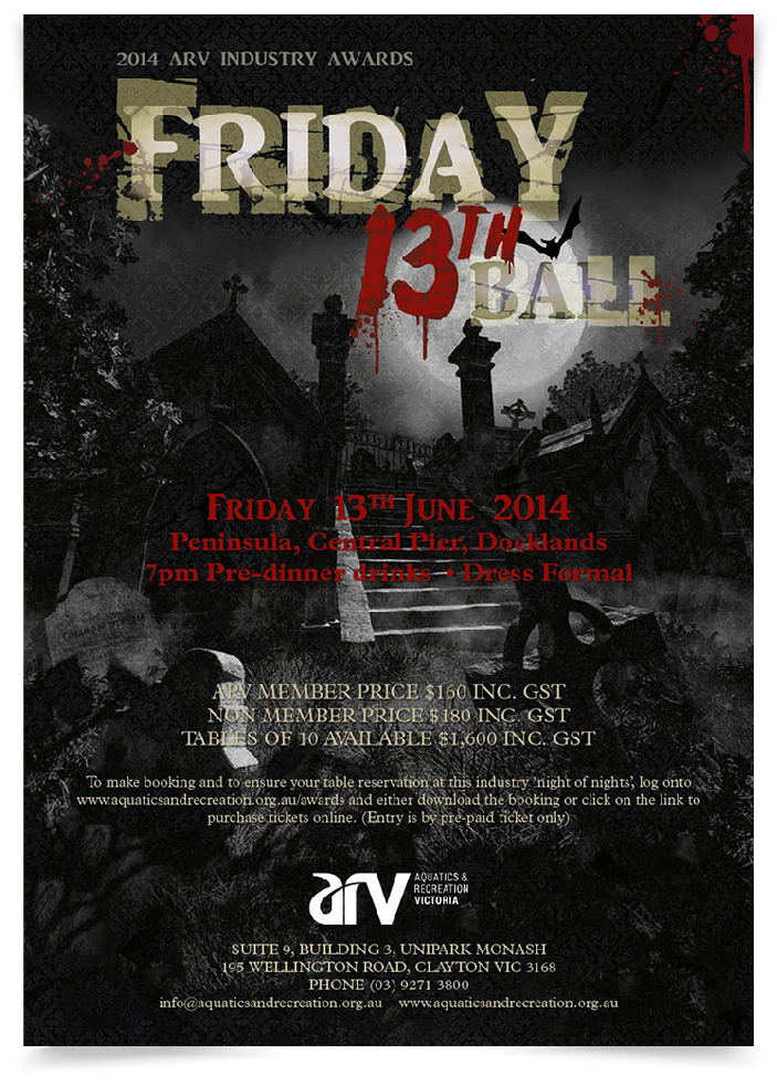 friday 13th ball poster