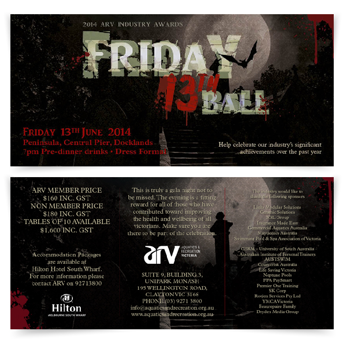 friday 13th ball flyers