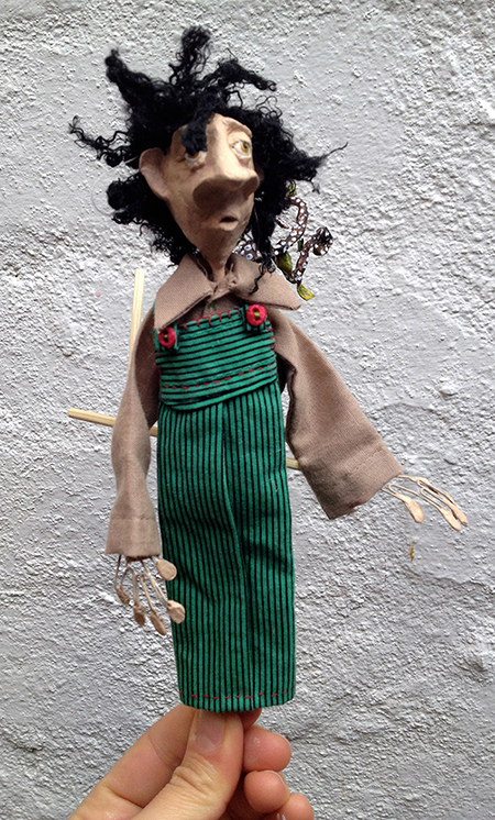 little rod puppet of a tree planter
