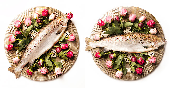 fish and roses styling