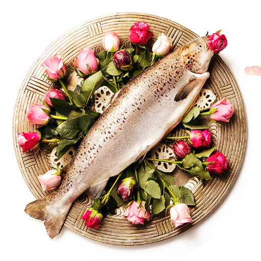 fish on a plate food styling